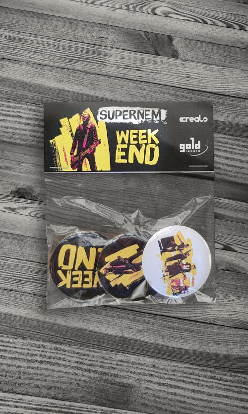 Supernem - Weekend kitűzők - Gold Record