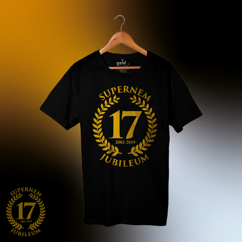 Supernem - 17 Jubileumi unisex póló - Gold Record