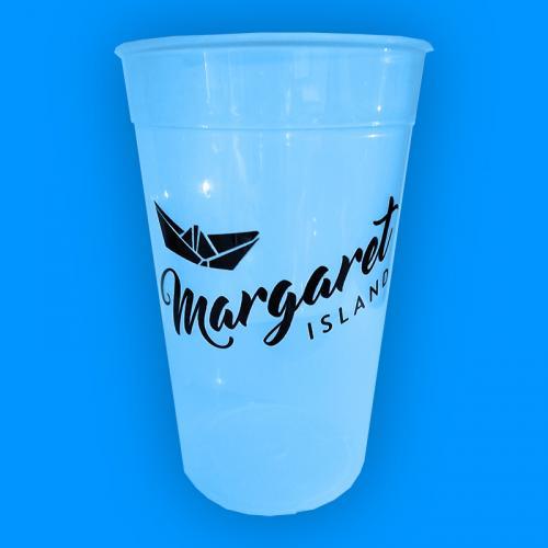 Margaret Island - kék repohár (0,5 l) - Gold Record