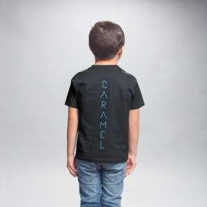 Caramel - Kék mintás fekete gyerek póló