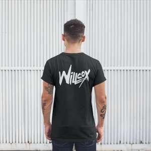 Willcox - Fekete unisex póló