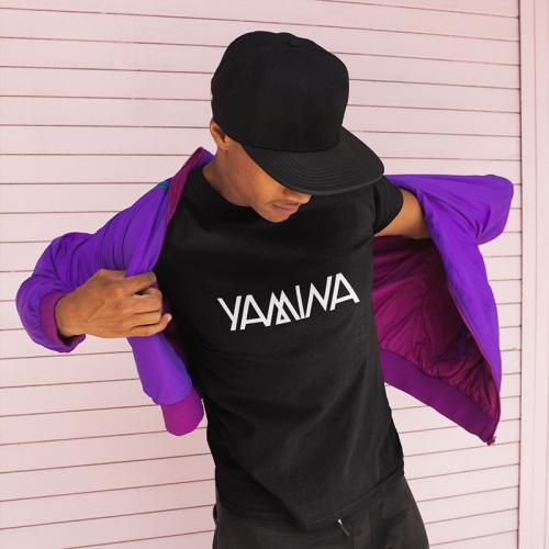 Yamina - Fekete unisex Yamina logós póló