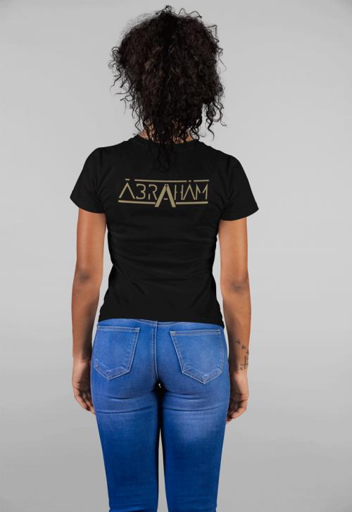Ábrahám - Fekete női logós póló  - Gold Record