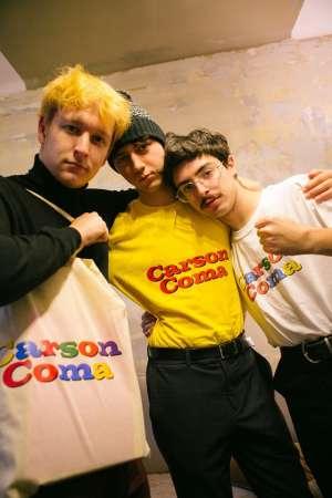 Carson Coma - Premium unisex T-shirt in yellow