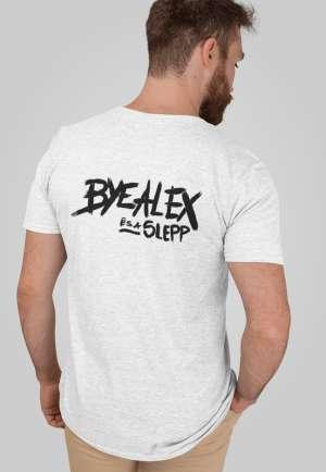 ByeAlex és a Slepp - PRÉMIUM fehér logós póló