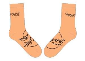 Margaret Island - Barack - fekete zokni csomag