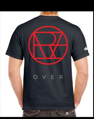 "Willcox - Black oversized ""OVER"" T-shirt"