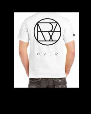 """Willcox - White oversized """"OVER"""" T-shirt"""