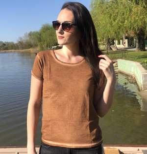 Rúzsa Magdi - Turné női póló - koptatott barna