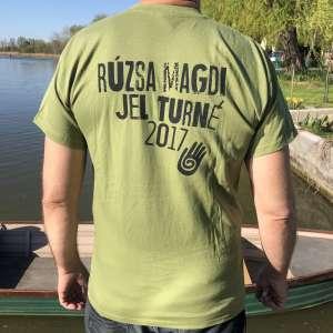 Rúzsa Magdi - Szabadulj el unisex póló - khaki
