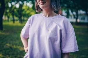 Margaret Island - ELŐRENDELHETŐ Exklúzív lila oversize póló Lábas Viki hímzett kézírásával
