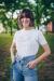 Margaret Island - Lila körlogós női póló - Gold Record