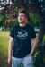 Margaret Island - Fekete körlogós unisex póló